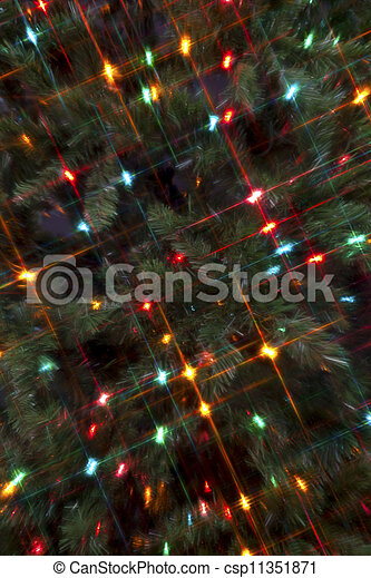 Full frame image of a Christmas tree with cluster of colorful Christmas lights. - csp11351871