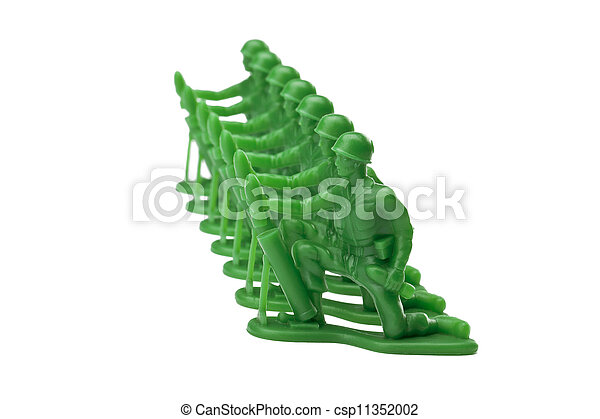 green military toy soldiers - csp11352002
