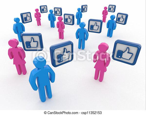 Concept of social network.  - csp11352153