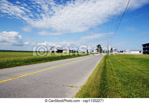 Rural road and farms - csp11352271