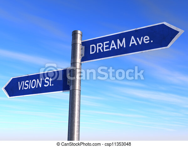 Road Sign Vision, st. Dream Ave. - csp11353048
