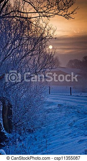 paisagem inverno - csp11355087