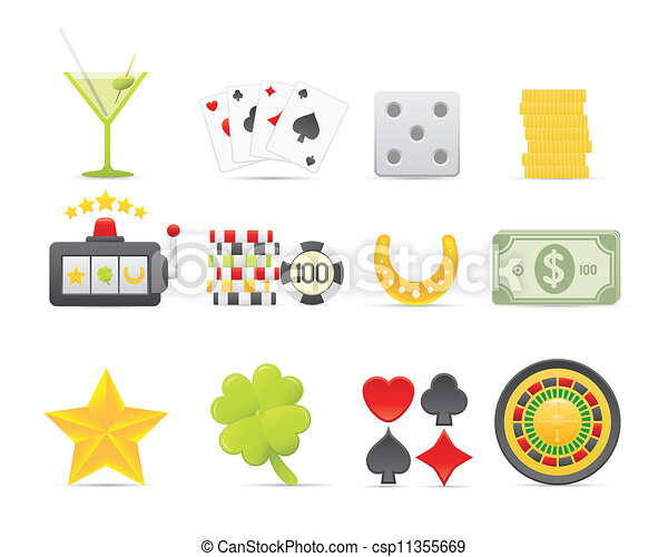 Gambling Icons Set - csp11355669