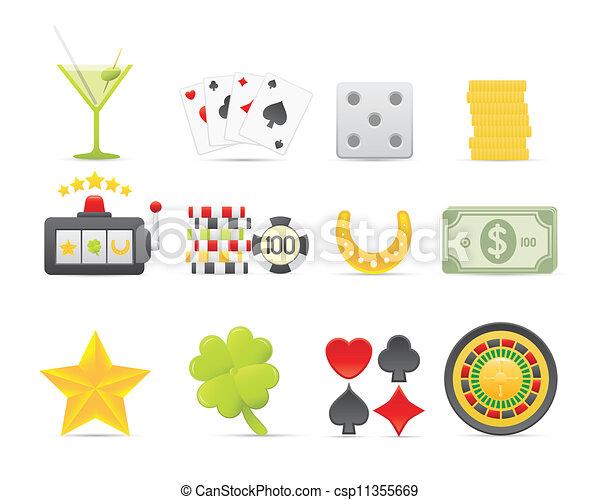 Gambling Icons Set - csp11355669