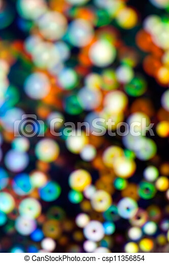 Defocused holiday lights - csp11356854