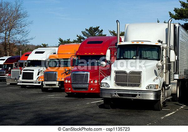 Truck rest area - csp1135723