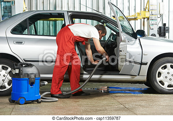 Cleaning service of automobile vacuum clean - csp11359787
