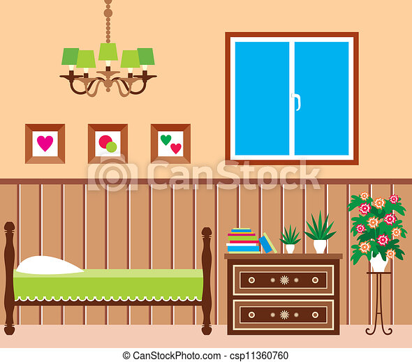 Clip Art Vector Of Living Room