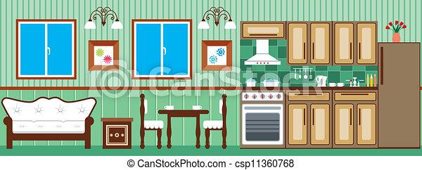 Esszimmer Und Küche  ... Pic Source