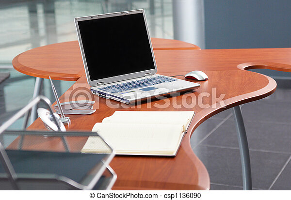 Notebook in modern office - csp1136090