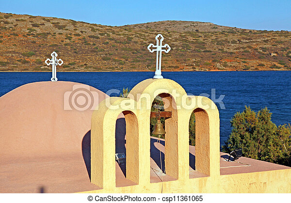 classical orthodox Greek church(Crete, Greece) - csp11361065