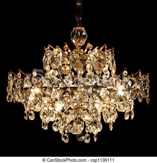 Stock fotografie von kristall, kronleuchter   groß, luxus ...
