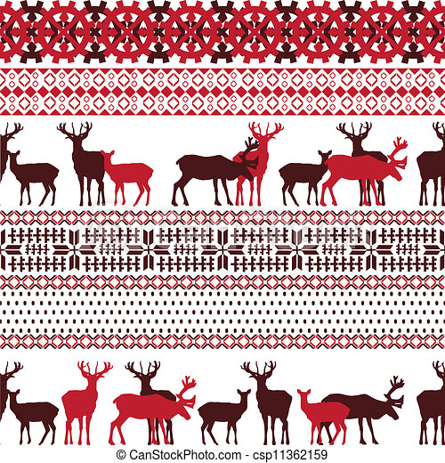 Clipart Vector Of Lapland Theme Texture Background With
