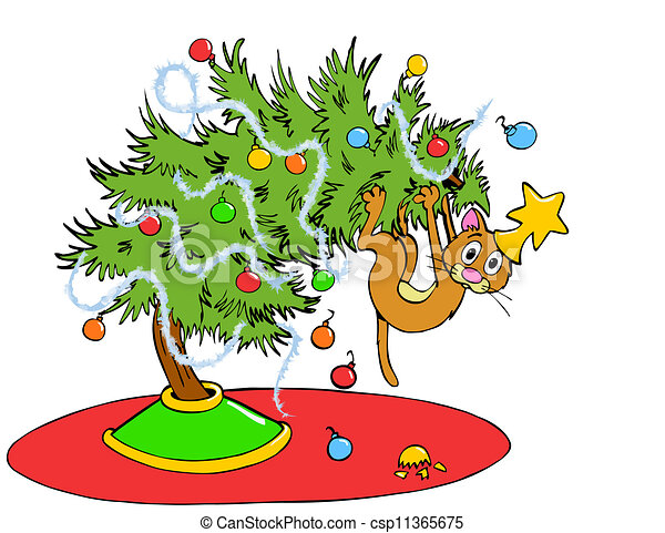 Christmas Tree Cat 11365675 on English Style House Plans