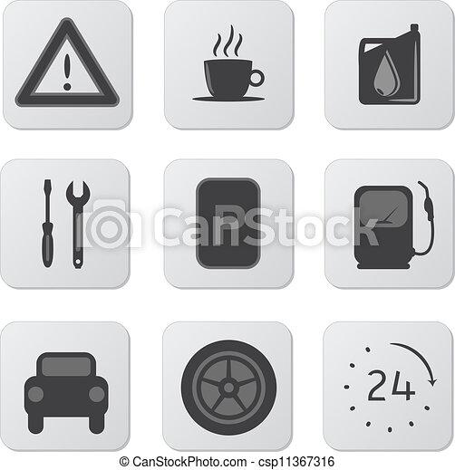 Automobile Icons - csp11367316