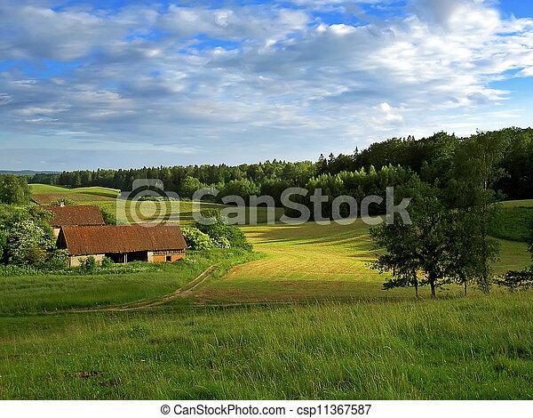 rural buildings - csp11367587