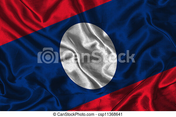 Silk Flag of Laos - csp11368641