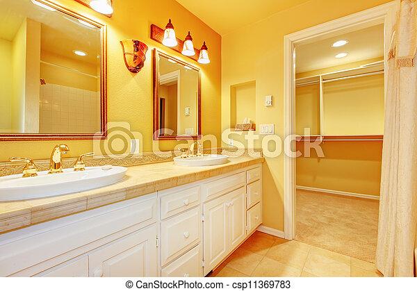 Immagini di bagno bianco gabinetto oro giallo pareti - Rubinetteria bagno bianco oro ...