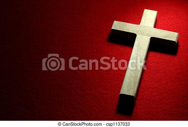 crocifisso, rosso - csp1137033