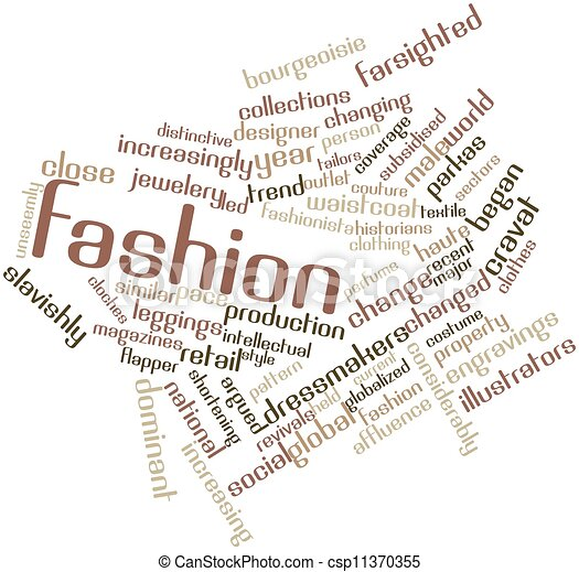 Stock Illustrations Of Fashion Abstract Word Cloud For Fashion With Related Tags