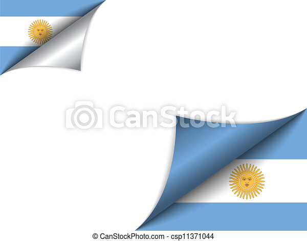 Argentina Country Flag Turning Page - csp11371044
