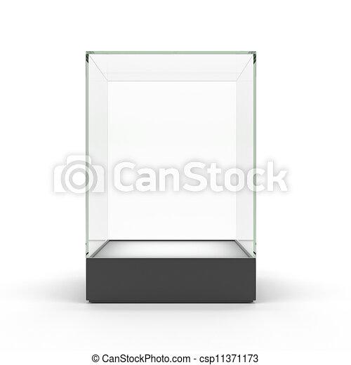 illustrations de exposer verre isol vide vitrine empty verre csp11371173. Black Bedroom Furniture Sets. Home Design Ideas
