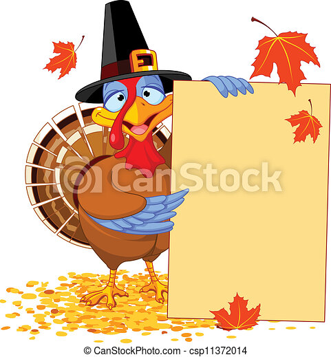 Thanksgiving Turkey with Holiday No - csp11372014