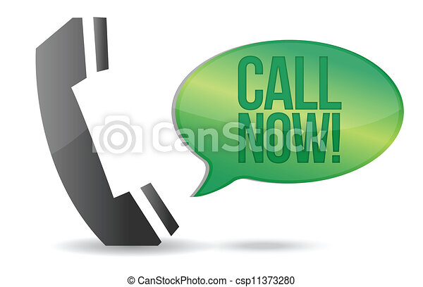 call now phone sign illustration design - csp11373280