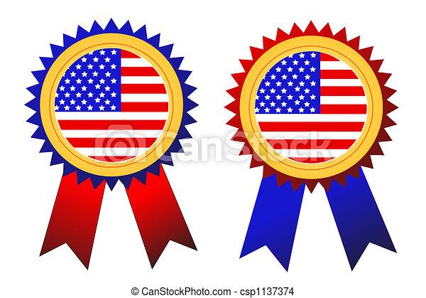 USA badges vector - csp1137374
