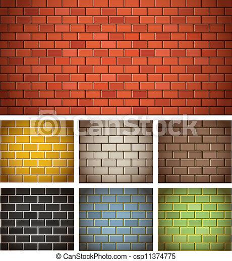 Ilustraciones vectoriales de color texturas diferente - Ladrillos de colores ...
