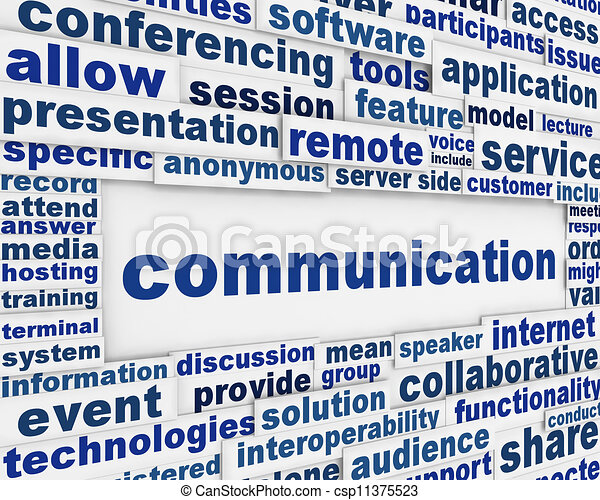 Global communication poster design - csp11375523