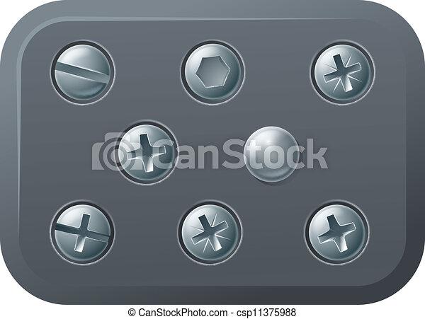 Screws and bolts design elements - csp11375988