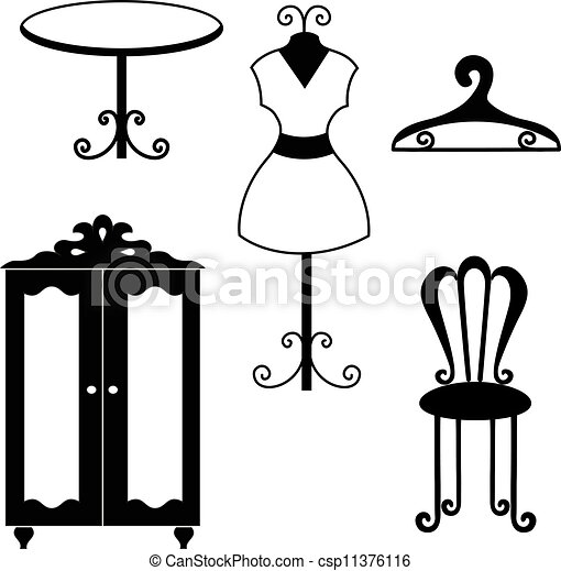 Furniture Line Drawings Vector Furniture
