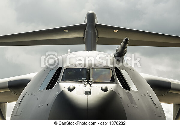 military cargo aircraft - csp11378232