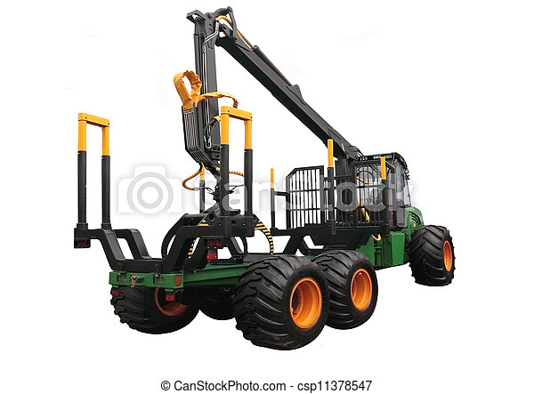 The truck for transportation of logs - csp11378547