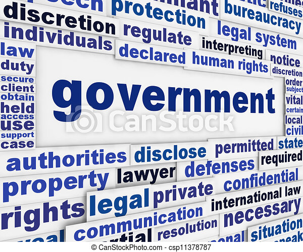 Government poster concept - csp11378787