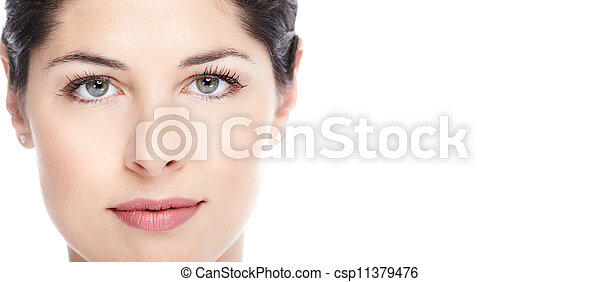 Beautiful woman face. - csp11379476