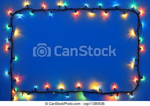 Christmas lights frame  - csp11380536