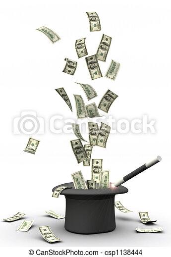 Magic wand and money - csp1138444