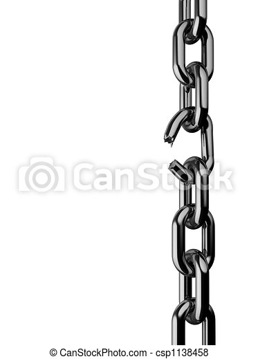 Stock Illustrations of Broken chain - Conceptual broken chain ...