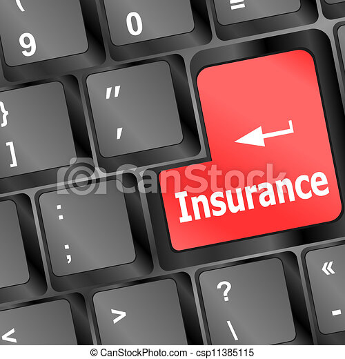 Insurance key in place of enter key - csp11385115