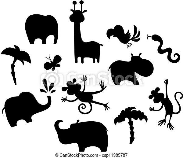 african animal set - csp11385787