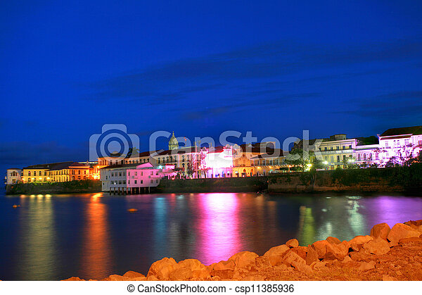 Panama City, Casco Viejo in the sunset - csp11385936