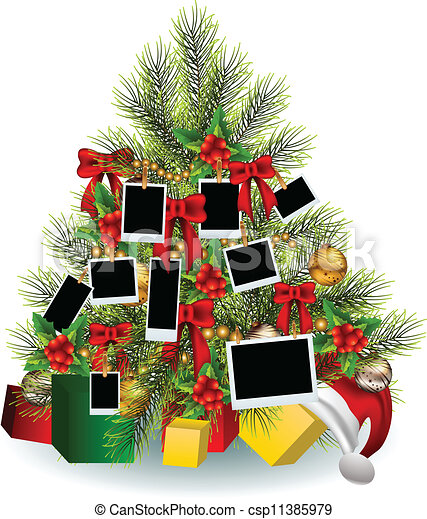 Christmas tree with frame - csp11385979