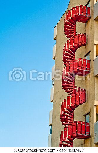 emergency stairs. urban architecture background - csp11387477