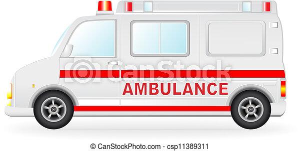 Ambulance Car Drawing Ambulance Car Silhouette on