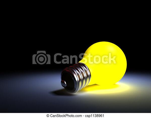 clipart de ampoule jaune lumi re ampoule clairant sombre csp1138961 recherchez des. Black Bedroom Furniture Sets. Home Design Ideas