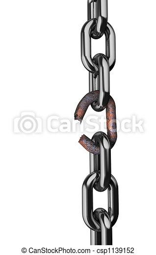 Broken rusty chain - csp1139152