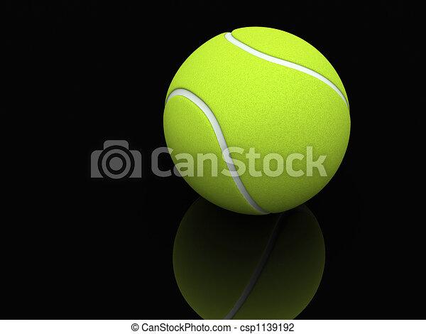 Lawn Tennis Drawing a Lawn Tennis Ball 3d Render