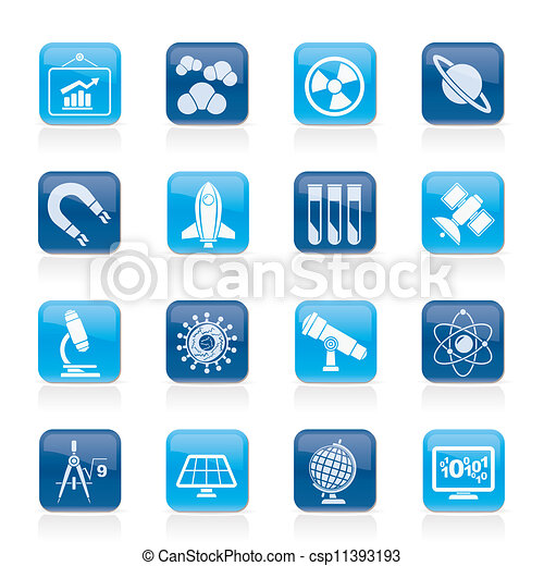 science and education Icons - csp11393193